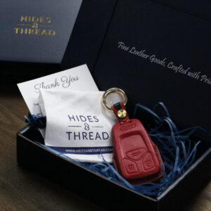 Packaging for leather car key cover